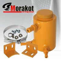 Yellow Universal Performance Power Steering Oil Aluminum Tank Fluid Catch Can