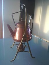 WMF ostrich Arts and crafts copper sprit kettle on stand burner samovar Cain