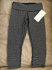Lululemon Parallel Stripe Wunder Under Crops NWT! Size 6! VERY RARE! SOLD OUT!!!