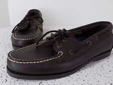Rugged Shark Mens Boat Shoe Size 10.5M, rawhide lacing, excellent