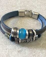Leather Alloy Beaded Fashion Bracelets
