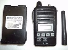 Icom F50v Vhf Portable Radio Tested Working Narrowband Fire Pager Police