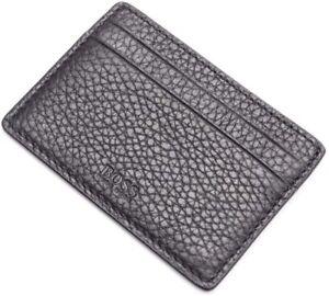 Hugo Boss Black Traveller Leather Card Holder BLACK