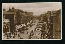 Lancashire Lancs ORMSKIRK busy Market Day Used 1931 RP PPC