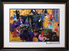 """LeRoy Neiman """"Desert Inn Baccarat"""" Framed Hand Signed Art Gambling Casino Vegas"""