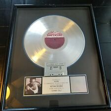 Motown Records RIAA Certified Johnny Gill Platinum Sales Award Plaque 21L x 17W