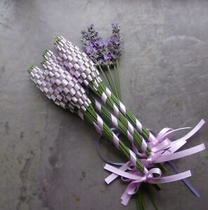 Lavender Filled Wands 5 Small Orchid Pink Double Sided Satin Ribbon