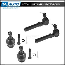 Outer Tie Rod Lower Ball Joint LH RH Set of 4 for Subaru Impreza Forester Legacy