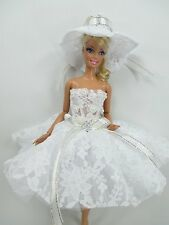 Barbie Doll Outfit Costume Dress & hat Fairytopia Ballerina Fairy Angel # FA-21
