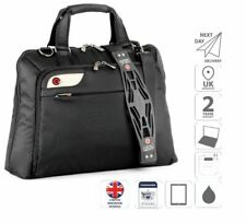 "15.6"" Ladies Laptop Shoulder Bag iPad Case Large Handbag Black is0106"