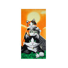 Cats Beach Towel, 100% Cotton Soft Absorbent Kid's Bath Towel