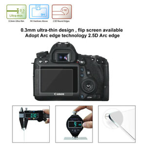 Camera Clear Tempered Glass LCD Screen Guard Protector For Canon 6D DSLR