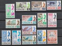 Gibraltar Sc# 147-160 MNH OG Complete stamp set 1960