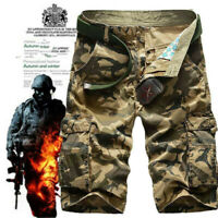 Mens Army Military Combat BDU Shorts Hunt Camp Tactical Casual Camo Cargo Shorts