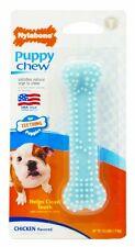 Nylabone Puppy Chew Teething Soft Bone Chicken Flavored Dog Toy Petite Blue