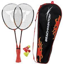 Talbot Torro Badminton spielset Speed Beachminton 2 Schlaeger  2 Baelle Tasche