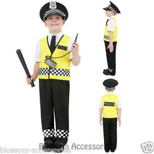 CK434 Kids Police Officer Cops Policeman Boys Fancy Dress Up Costume Book Week