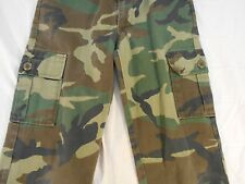 BOY'S GIRL'S BDU WOODLAND CAMO PAINTBALL AIRSOFT HUNTING  Pants 26 x 23 12 REG