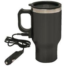 16oz Stainless Steel Black Coffee Mug 12V / Coffee Mug, Portable Coffee Warmer