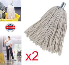 More details for 2 x heavy duty cotton mop head replacements metal socket 16py cotton rich 240gm