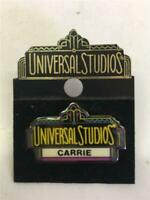 Universal Studios CARRIE name Collectible Trading Pin pinback Amusement Park