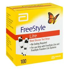 100 Freestyle Lite Test Strips *Usa Seller* Dinged/Damaged *Free Shipping*