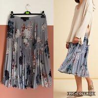 Modern Rarity Archive Print Pleated Full Skirt UK14 Midi Floral