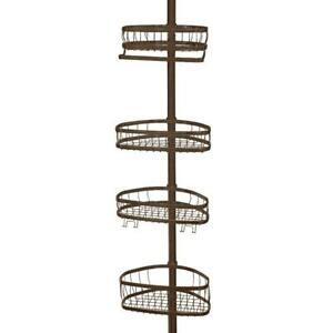 interDesign York 5 to 9 ft. Tension Pole Shower Caddy in Bronze