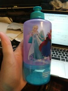 Disney Frozen Snack On the Go Container and Sport Cup Bottle In One For Travel
