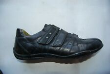 Black Leather MEXX Hook & Loop Closure Strap Low Casual Shoes EU 42 US 9 - 9.5