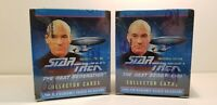 2 BOX LOT Star Trek The Next Generation Inaugural Collectible Trading Card Box