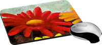 Painted Flower Mouse Pad Soft Rubber Keyboard Large Computer Mouse Desk Pad New