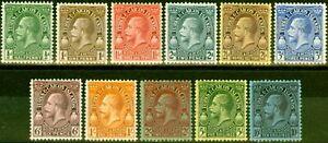 Turks & Caicos 1928 Set of 11 SG176-186 Fine Lightly Mtd Mint