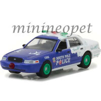 GREENLIGHT 37120 F 2001 FORD CROWN VICTORIA POLICE INTERCEPTOR 1/64 NORTH POLE