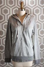 NWT Lucy Sexy Sweat Half Zip Sweatshirt Large $79 Dove Grey Heather