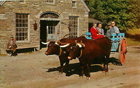 Postcard Oxen And Blacksmith Shop, Farmers' Museum, Cooperstown, NY