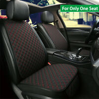 Breathable Linen Car Front Seat Cover Cushion Protector Black + Red For One Seat