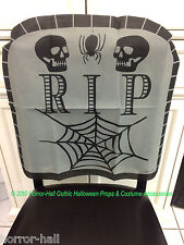 Haunted House-RIP SKULL TOMBSTONE CHAIR COVER-Over the Hill Birthday Decoration