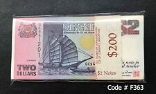 Singapore - 3rd $2 stack ( 100pcs Running ) | UNC