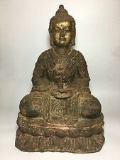 "16.2"" Antique collectible spiritual rusty bronze Sakyamuni  Buddha statue"