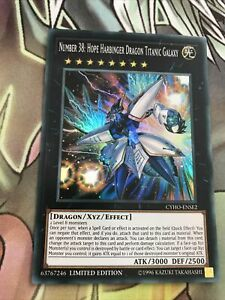 YuGiOh Number 38: Hope Harbinger Dragon Titanic Galaxy CYHO-ENSE2 Super Rare