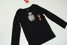 Gymboree Tres Fabulous Girls Size 3-4 Perfume Top Shirt NEW NWT Black Sparkle