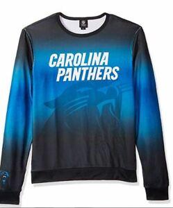 NWT NFL MEN'S CAROLINA PANTHERS LONG SLEEVE 'UGLY SWEATER' SHIRT SIZE XL