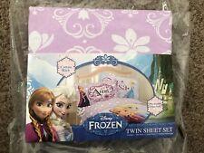 NIP Disney FROZEN Sheet Set TWIN CELEBRATE LOVE (Two Sheets and Pillow Case)