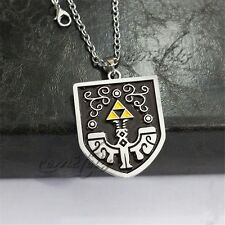 "The Legend of Zelda Shield Marks 2"" Metal Pendant Necklace Chain Anime Cosplay"