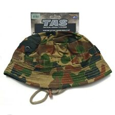 TAS AUSCAM GIGGLE HAT LARGE 100% COTTON SHORT DOUBLE LAYER BRIM ARMY