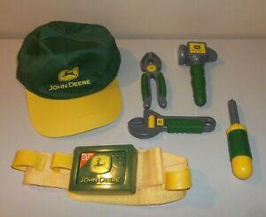 Pretend Play Kids - John Deere Talking Toolbelt with Tools and Ball Cap Hat