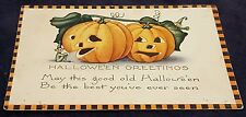 RARE 1924 Whitney HALLOWEEN BEST YOU'VE EVER SEEN Checker Border Postcard