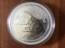 1kg Silver Lunar Tiger 2010 Series II Perth Mint Condition