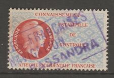 France Africa Colonies fiscal revenue stamp 7-11-20- used